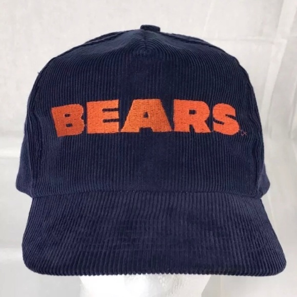 Accessories - Vintage Chicago Bears Corduroy Cap Hat Snap Back 72b10c73662